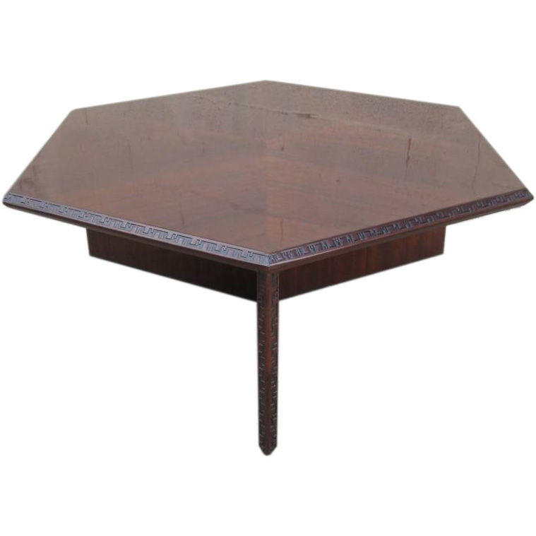 Hexagonal Frank Lloyd Wright Cocktail Table For Sale At 1stdibs