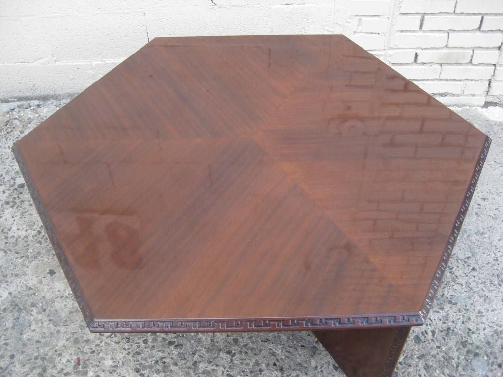 Signed Frank Lloyd Wright Cocktail Table At 1stdibs