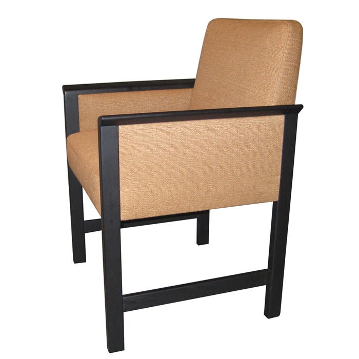 Single Mid-Century Modern Parson's Chair after Ward Bennett