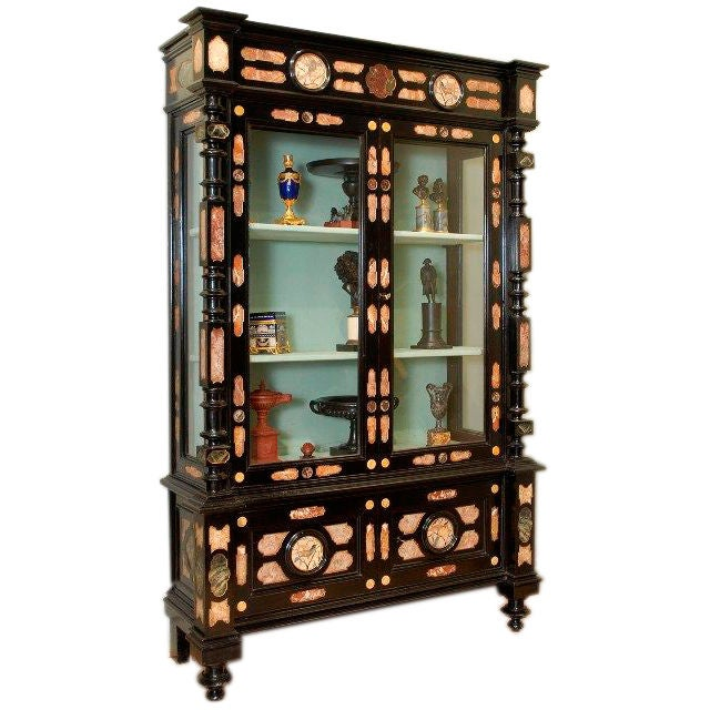 A Pietra Dura Cabinet For Sale