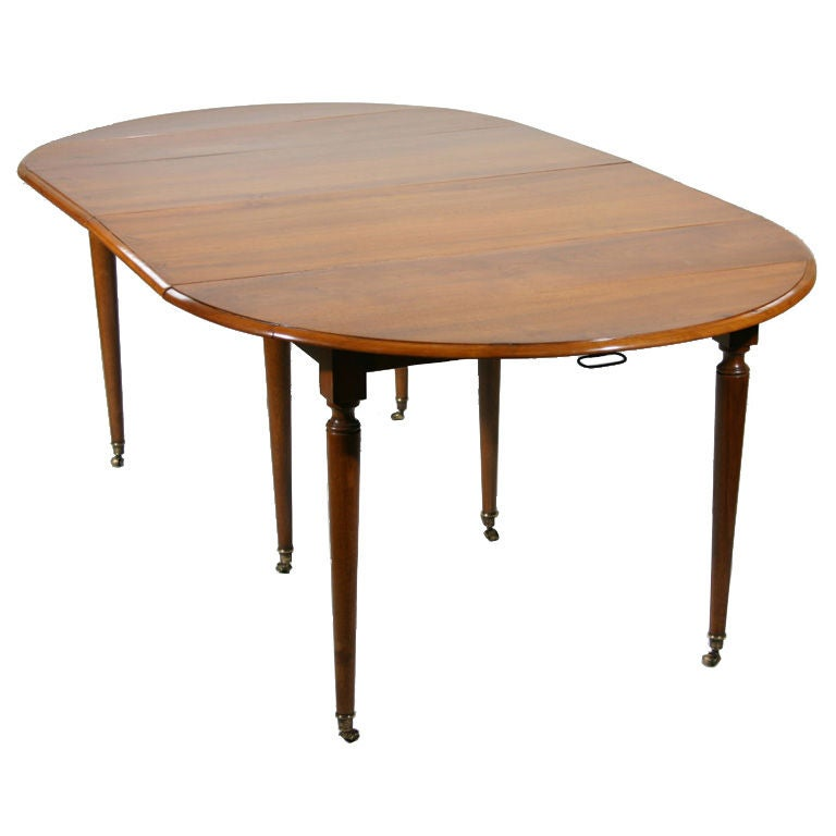 a french walnut drop leaf extension dining table at 1stdibs