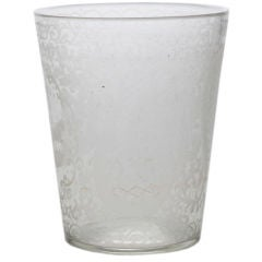 Etched Glass Rinser