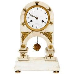 Directoire Period Carrara Marble Clock