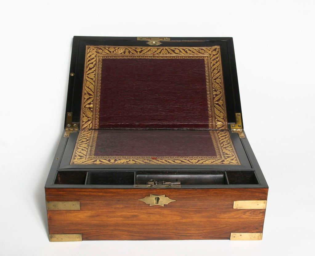 William IV Rosewood Campaign Lap Desk image 3