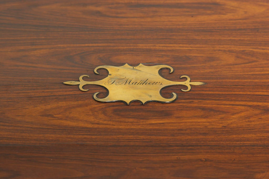 William IV Rosewood Campaign Lap Desk image 5