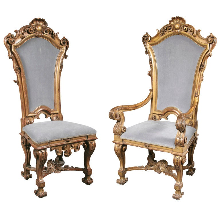 important set of 14 baroque style dining chairs at 1stdibs
