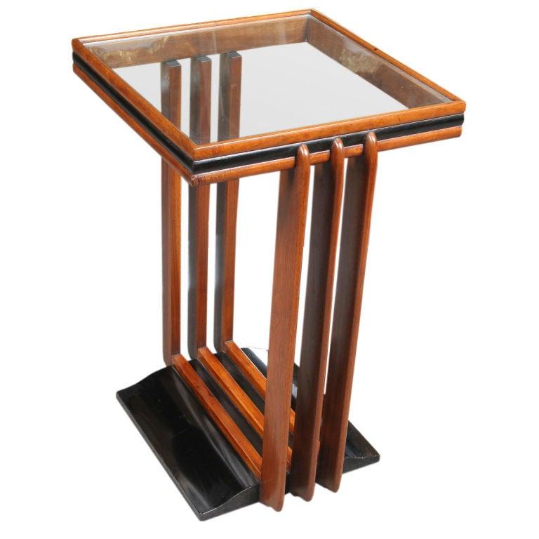 Art deco period walnut side table at 1stdibs for Art deco era dates