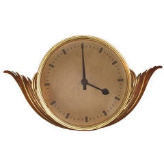 Art Deco Gilt Wood Clock