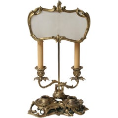 Finely Cast Louis XV Gilt Bronze Candlestick Lamp