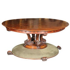William IV Walnut Circular Table