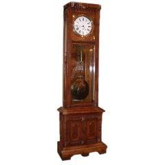 American Eastlake Oak Regulator Clock by Gilbert
