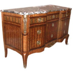 Transition Style Kingwood and Marquetry Commode
