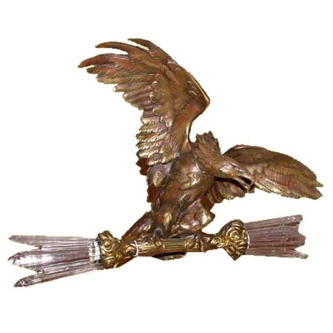 Figural Chandelier In Form Of Eagle At 1stdibs