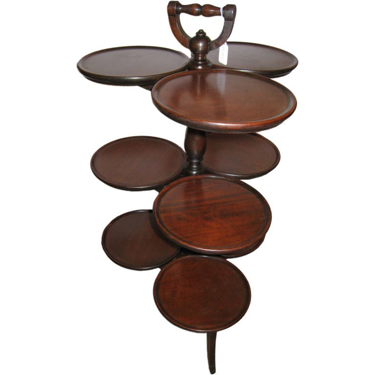 Victorian Mahogany Nine-Tray Plate Stand For Sale