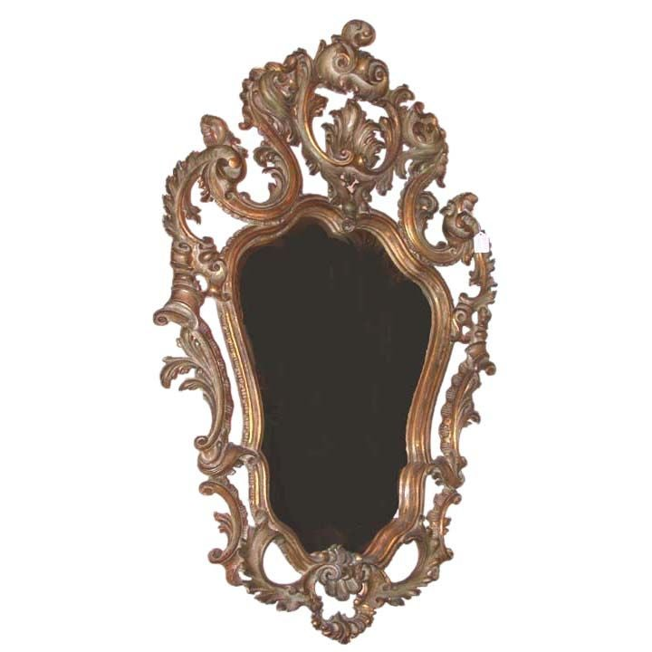 baroque style gilt wood mirror at 1stdibs