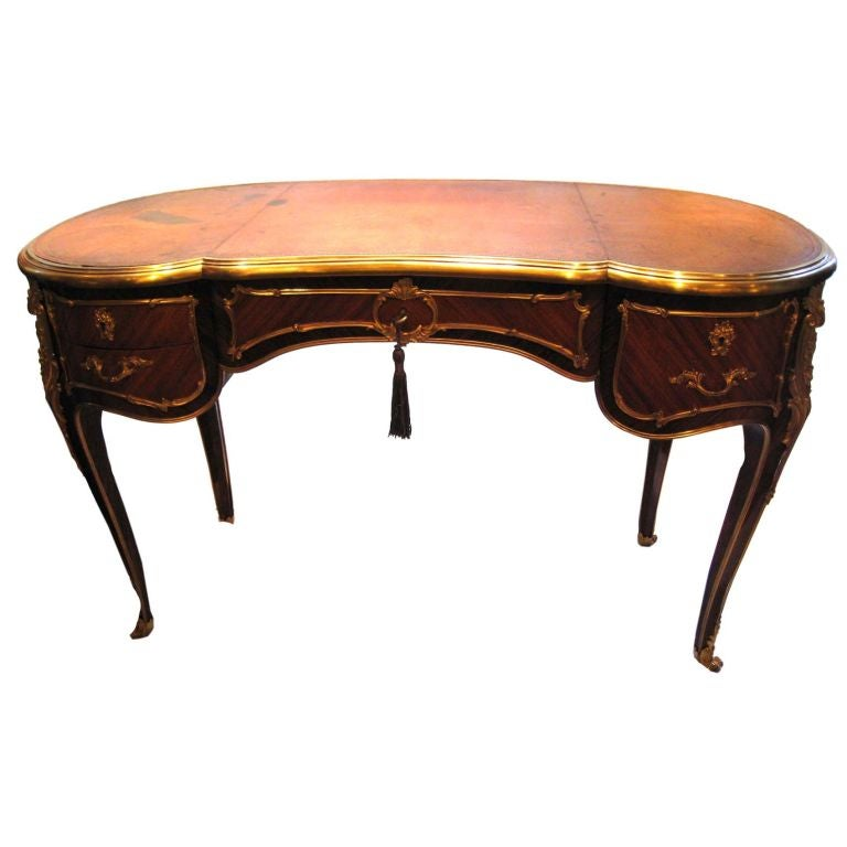 Louis xv style kidney form desk for sale at 1stdibs for Kidney desk for sale