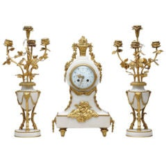 Napoleon III Three-Piece Chimney Garniture