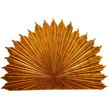 Gilt Wood Carved Sunburst