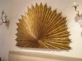 Gilt Wood Carved Sunburst image 2