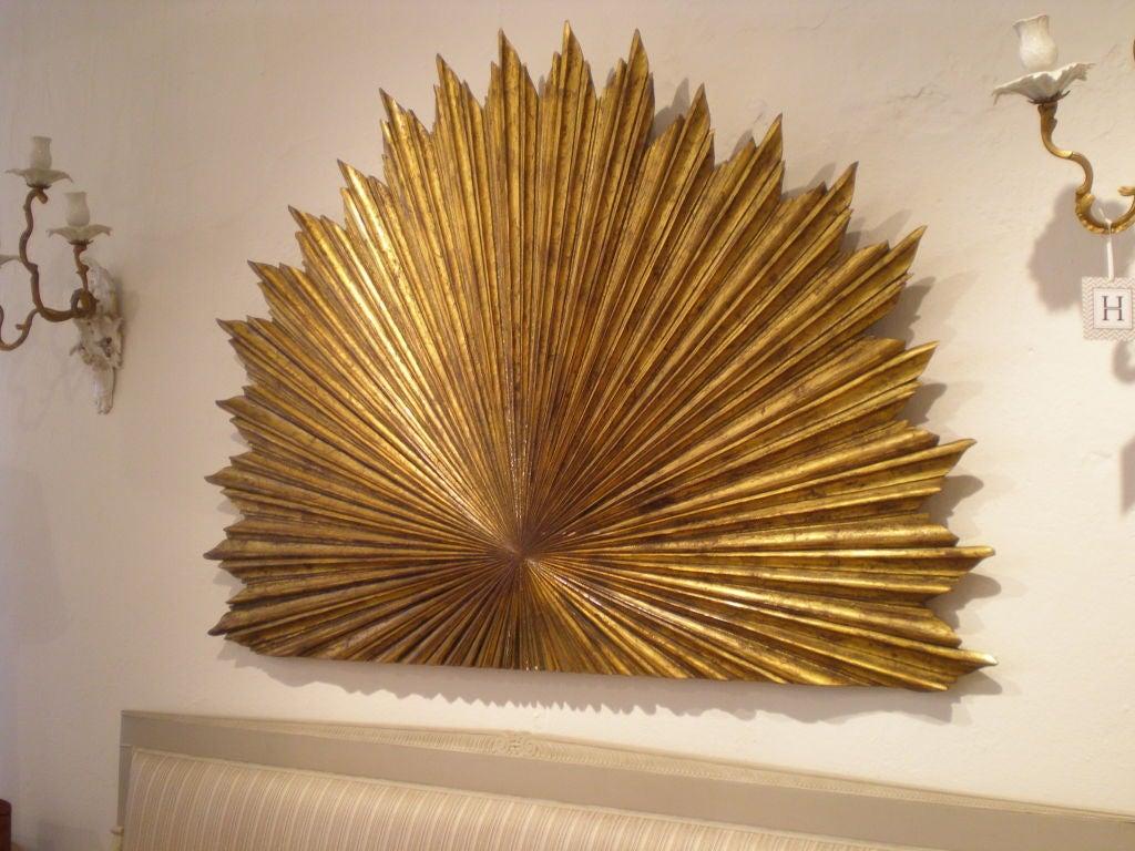 Gilt Wood Carved Sunburst 2