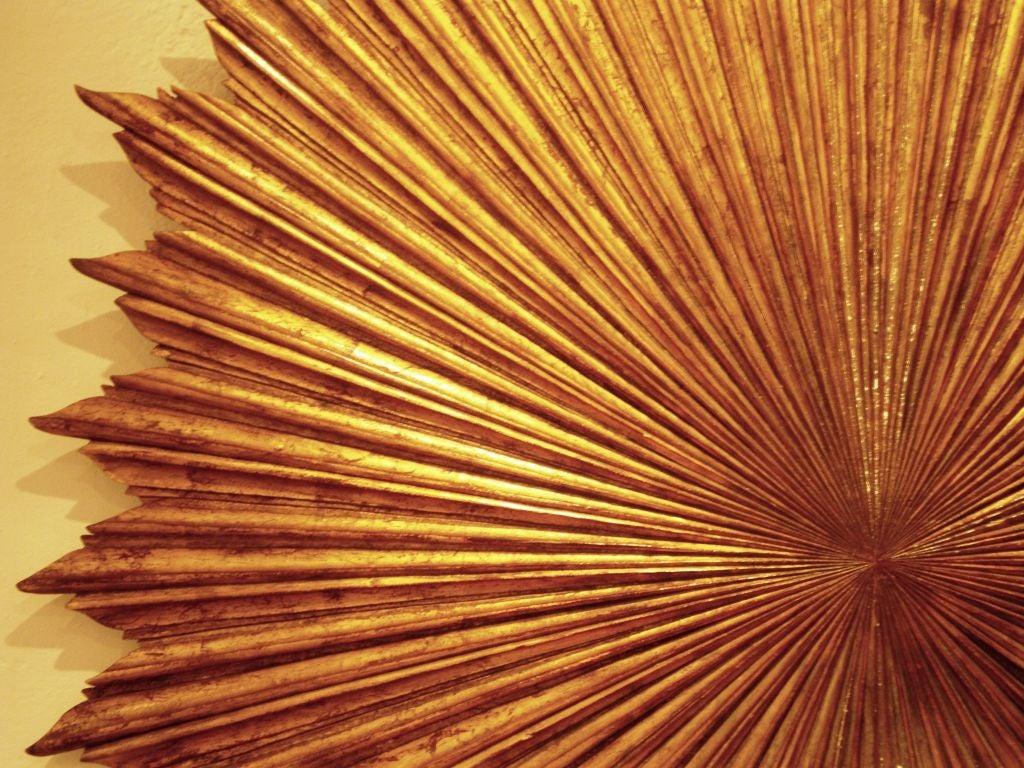 Gilt Wood Carved Sunburst 5