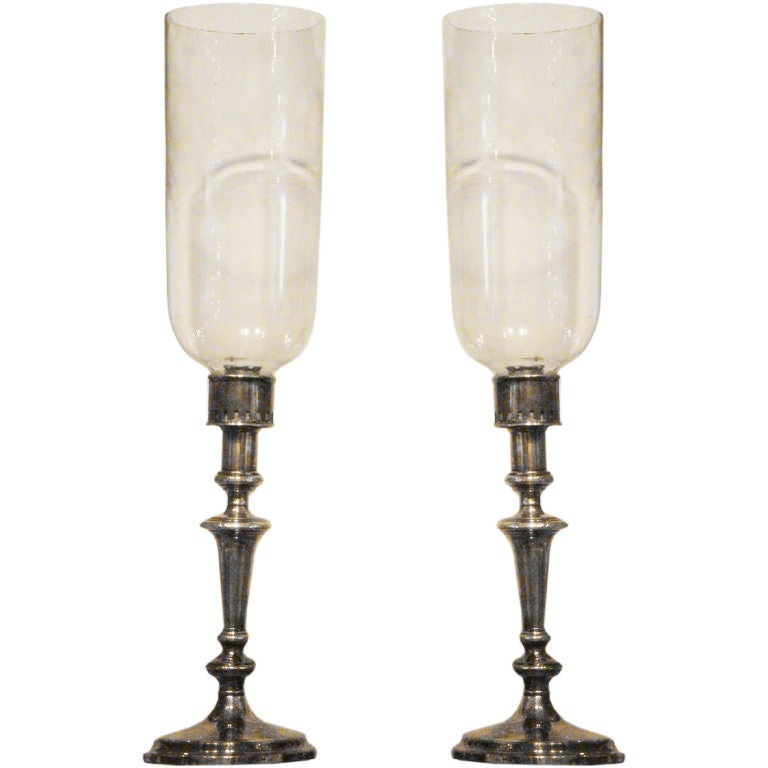 Pair Of Late 19th Century Sheffield Plated Candlesticks At