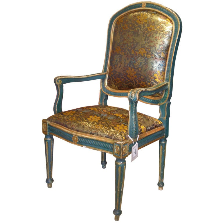 18th Century Italian Neoclassical Arm Chair At 1stdibs