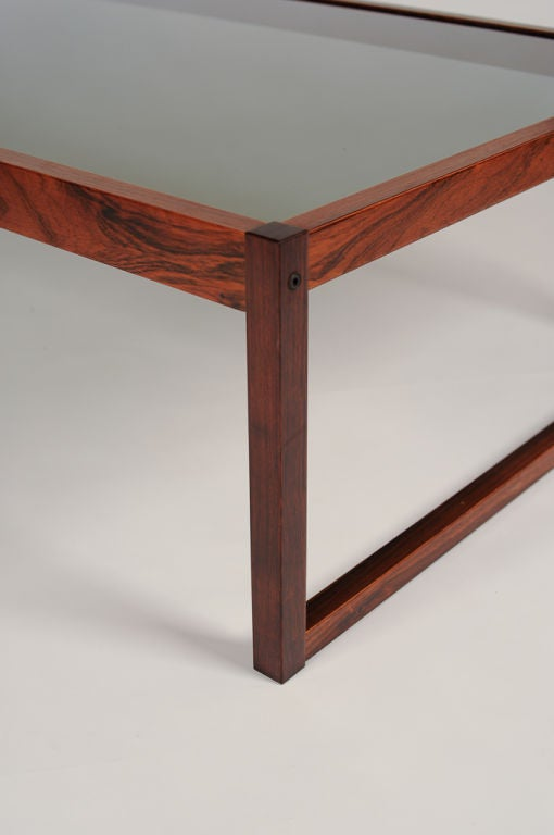Simple And Elegant Rosewood Coffee Table At 1stdibs