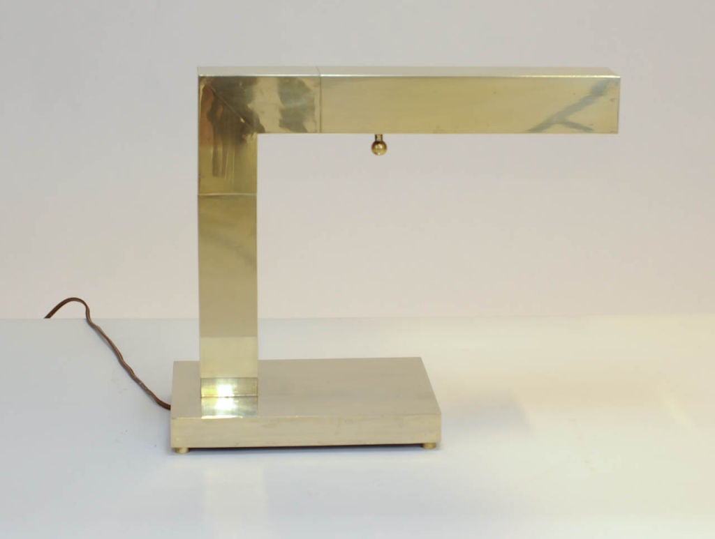 New Elegant And Well Built Solid Brass Chapman Desk Lamp At 1stdibs