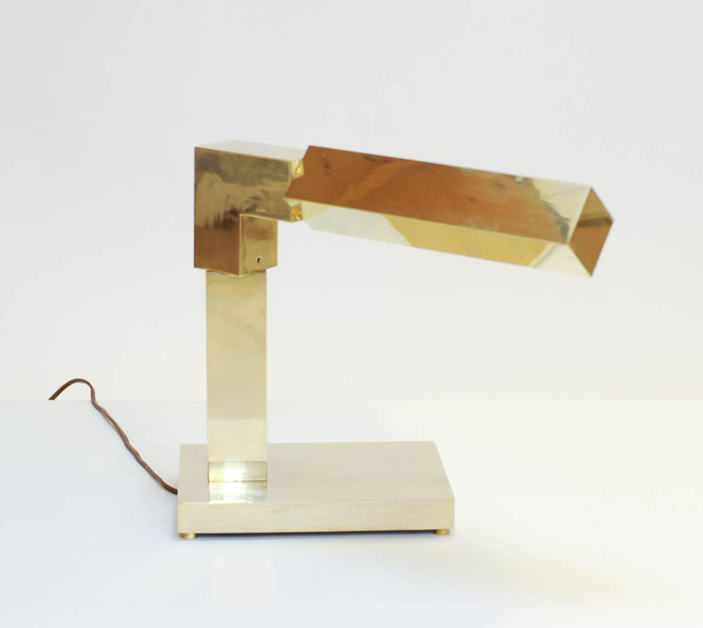 New Elegant And Rare Opaline Brass And Wood Desk Lamp At 1stdibs