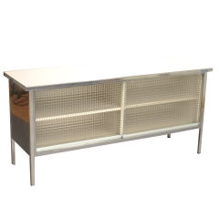 Polished Steel Credenza by Steelcase