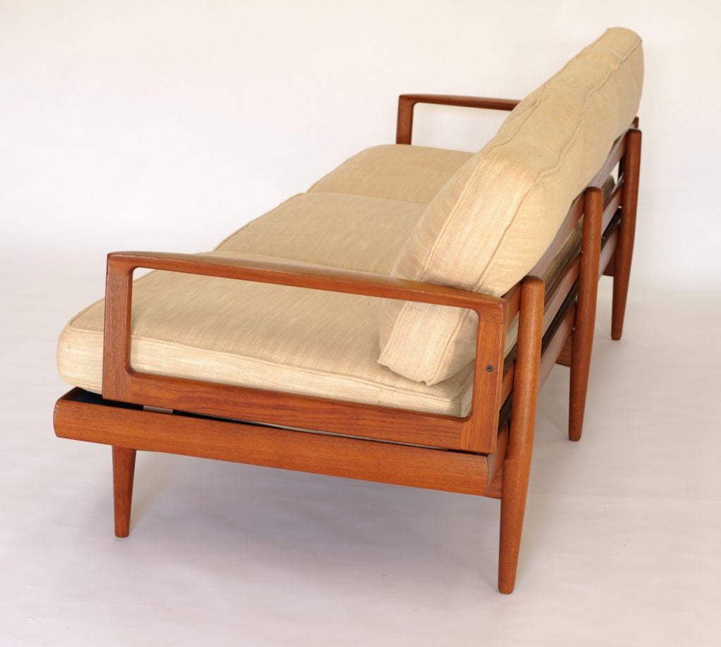 Danish modern teak sofa at 1stdibs Danish modern furniture