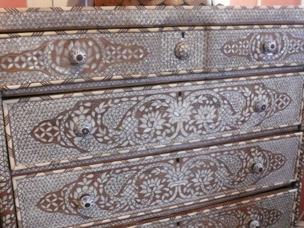 Syrian Mother-of-Pearl Chest of Drawers image 4