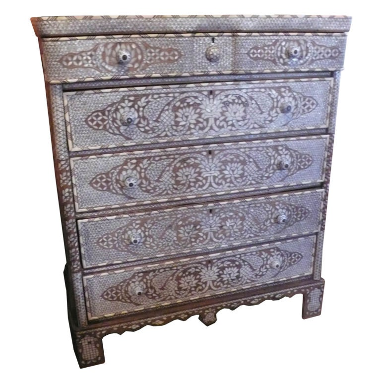 Syrian Mother-of-Pearl Chest of Drawers