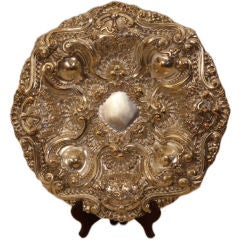 Brazilian or Portuguese Colonial Silver Charger