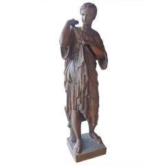 Italian Terracotta Figure of a Noble Roman Woman