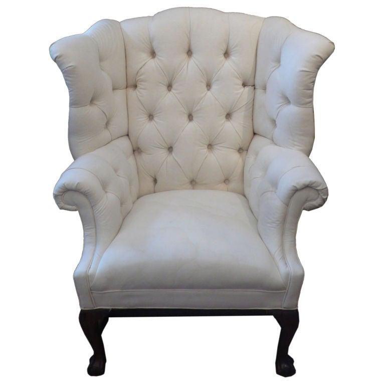 Huge George Iii Wing Back Arm Chair At 1stdibs