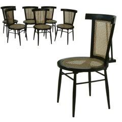 "Set of Four ""Small Chairs"" by Joaquim Tenreiro, Brazil, 1960"