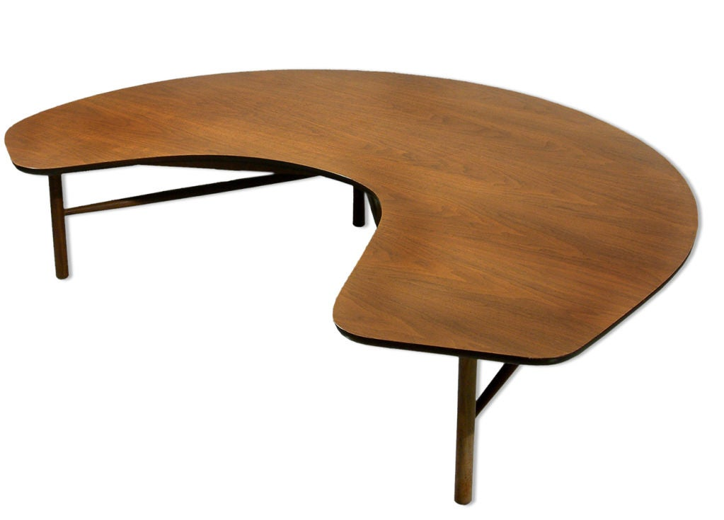 Half moon table by greta magnusson grossman at 1stdibs for 1 2 moon table