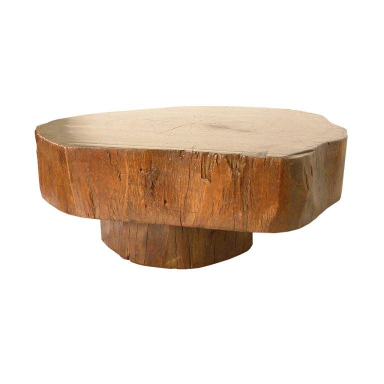 Tree trunk coffee table by joaquim tenreiro at 1stdibs
