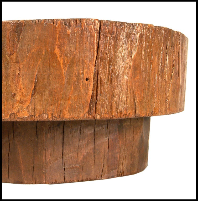 Tree Trunk coffee table by Joaquim Tenreiro at 1stdibs