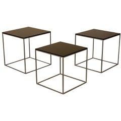 PK 71 set of three nesting tables by Poul Kjaerholm