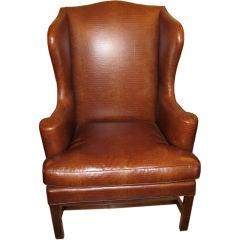English Mahogany Wing Chair