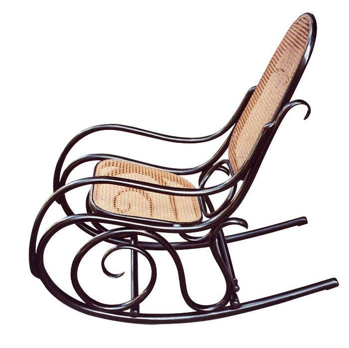 michael thonet rocking chair with original kohn label. Black Bedroom Furniture Sets. Home Design Ideas
