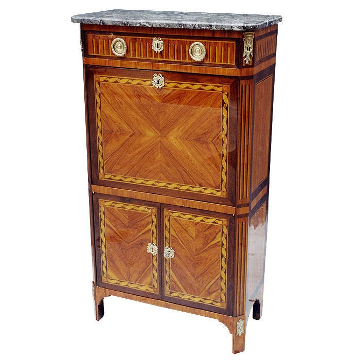 french louis xvi secretaire signed by jean baptiste. Black Bedroom Furniture Sets. Home Design Ideas