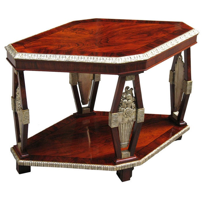 Neo Paradigm Studio: Neo-Classically Inspired French Art Deco Side Table At 1stdibs