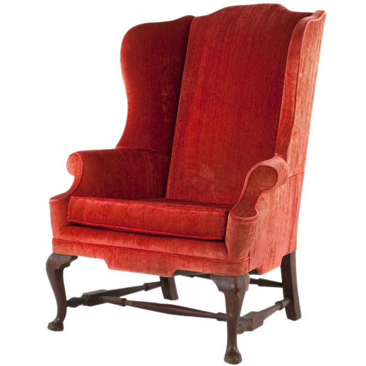 This Vintage Velvet Queen Anne Chair is no longer available.