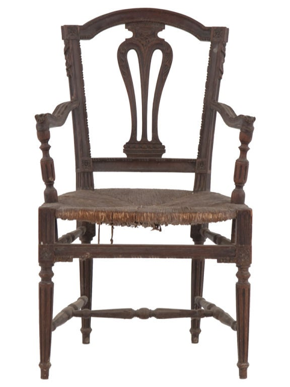 Antique wooden arm chair at stdibs