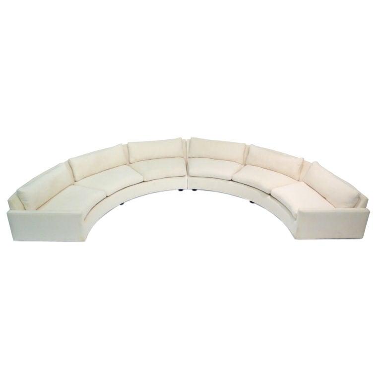 Incredible Circular Sofa By Milo Baughman At 1stdibs