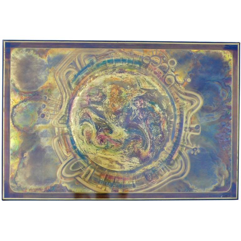 Acid Etched Copper Panel Original Artwork By Bernhard